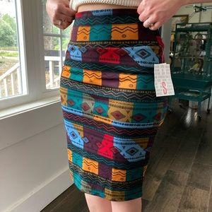 NWT LuLaRoe Earth Tone Stretch Pencil Skirt, S